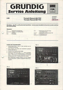 Grundig-Service-Anleitung-Manual-Triumph-Record-480-TRC-580-TRC-CBS-40-41-B868