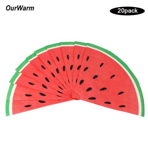 20pcs Disposable Tableware Watermelon Paper Napkin Hawaiian Party Wedding Decor