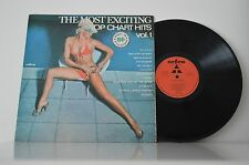 "70'S THE MOST EXCITING TOP CHART HITS VOL.1 12"" LP Record SEXY EROTIC CHEESECAKE"