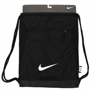Nike Alpha ADAPT Gymsack Black white Drawstring Bag Backpack Gym Sack Ba5256 2f8dd3cc31