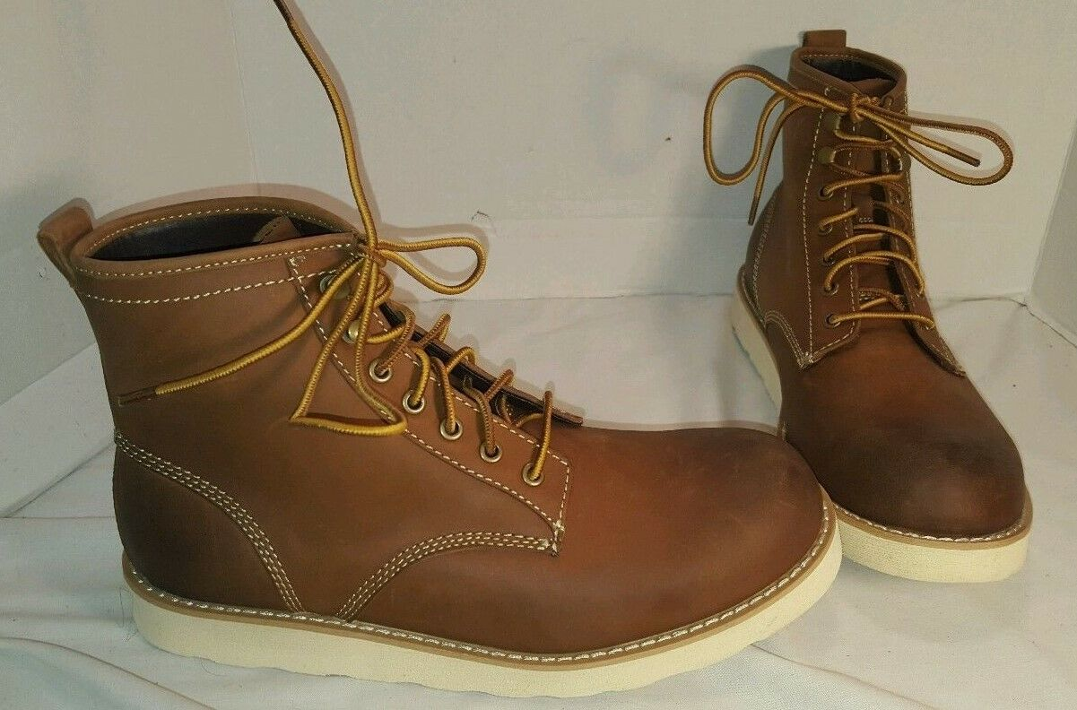 NEW AMERICAN EAGLE OUTFITTERS ANKLE braun LEATHER Stiefel US herren 11