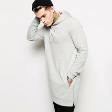 New men hip hop  hoodie shirt  funny  sweater solid fleece side zipper oversize