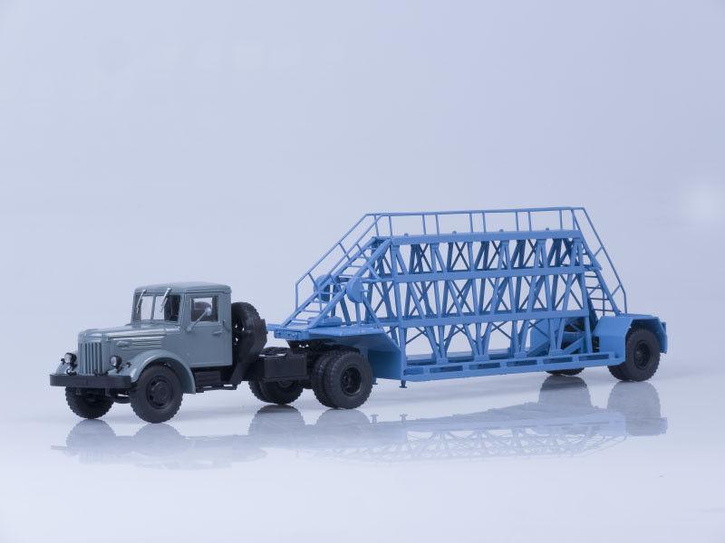 Modelo de escala camión 1 43 MAZ-200V con cuatro Nami - 790, (grigio blu) (AIST)