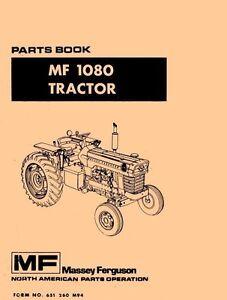 massey ferguson mf 1080 mf1080 parts book manual ebay rh ebay com Massey Ferguson 135 Diesel 135 Massey Ferguson Vintage Tractors