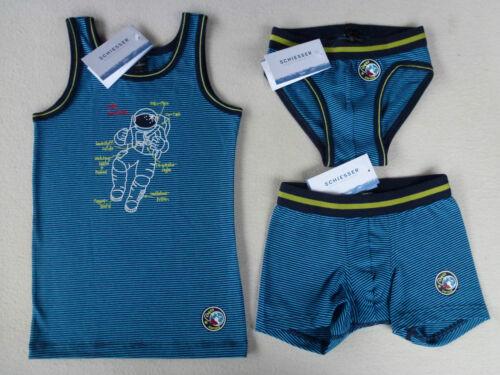 Schiesser Giovane Sotto Camicia Sport-slip Hip-Shorts capitano space 116 128 140 NUOVO