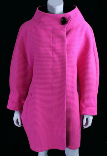 THIERRY MUGLER Vintage Bright Fuchsia Quilted Wool