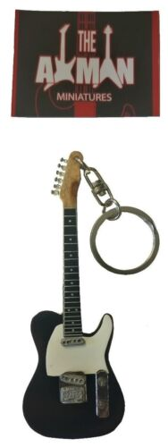 Black Guitar Keyring Telecaster UK Seller