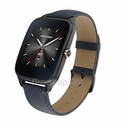 ASUS ZenWatch 2 Smartwatch Android Wear Leather Band Stainless Steel IOS Blue