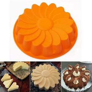 9-034-Sun-Flower-Round-Silicone-Cake-Bakeware-Baking-Cup-Cupcake-DIY-Mold-Mould-S