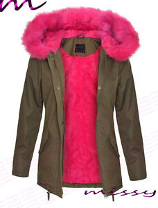 Coloured Fur Parka Coats