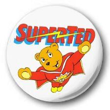 "Superted  25mm 1"" Button Badge - Kids Retro TV Nostalgia 80's Novelty"