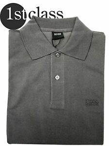 b7f5a88f Image is loading HUGO-BOSS-POLO-SHIRT-FIRMO-Regular-Fit-Gray-