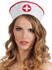 Krankenschwester Haube mit elastischem Band NEU - Karneval Fasching Hut Mütze Ko