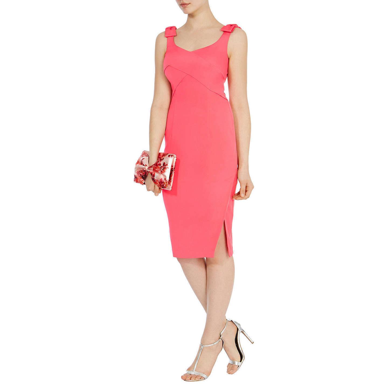 Coast Bow Belle Dress Coral Größe rrp  DH089 NN 14