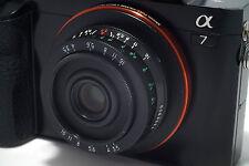 YASHICA T Lens w/ SONY NEX E-mount Zeiss Tessar 3,5/35mm KYOCERA T2 T4 T5 Camera