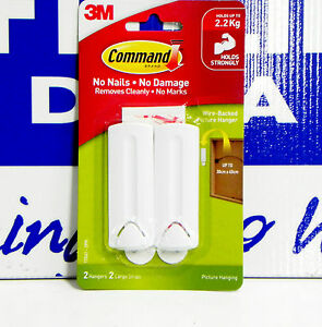 3m Command Wire Backed Picture Hanging Hook 2 Pack 8887862013001 Ebay