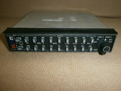 Serviceable Audio Panel Bendix King KMA-24 12-28 Volt PN 066-1055-03 NO TRAY