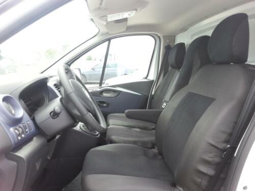 2+1 Sitzbezüge Schwarz für Opel Vivaro 2014 Passgenau Schonbezüge Tischnezug