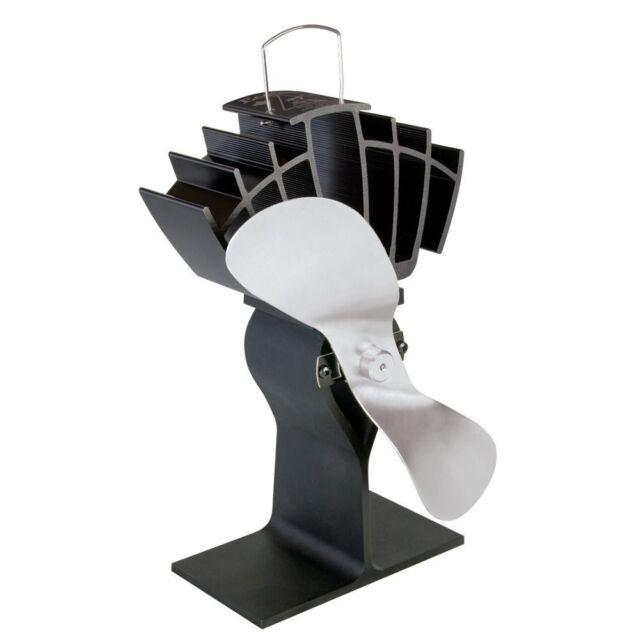 Caframo 810CA-KBX Ecofan UltrAir Model 810CA Heat Powered Wood Stove Fan, Nickel