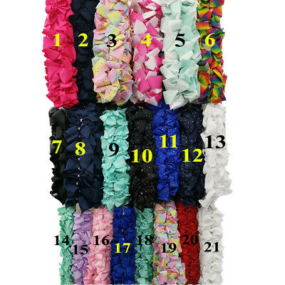 Costruttivo Wholesale 120pcs 6 / 8 Inch Large Hair Bow Rainbow Dance Moms Girls Hair Clip