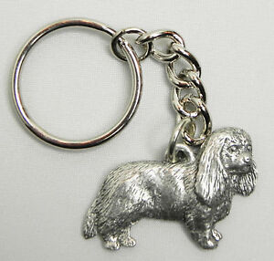 Cavalier King Charles Keychain Pewter