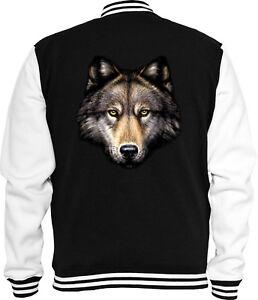 Head Indian Sweat Wolf college Giacca Animal Natura Wild da Trucker C1XwxqxS