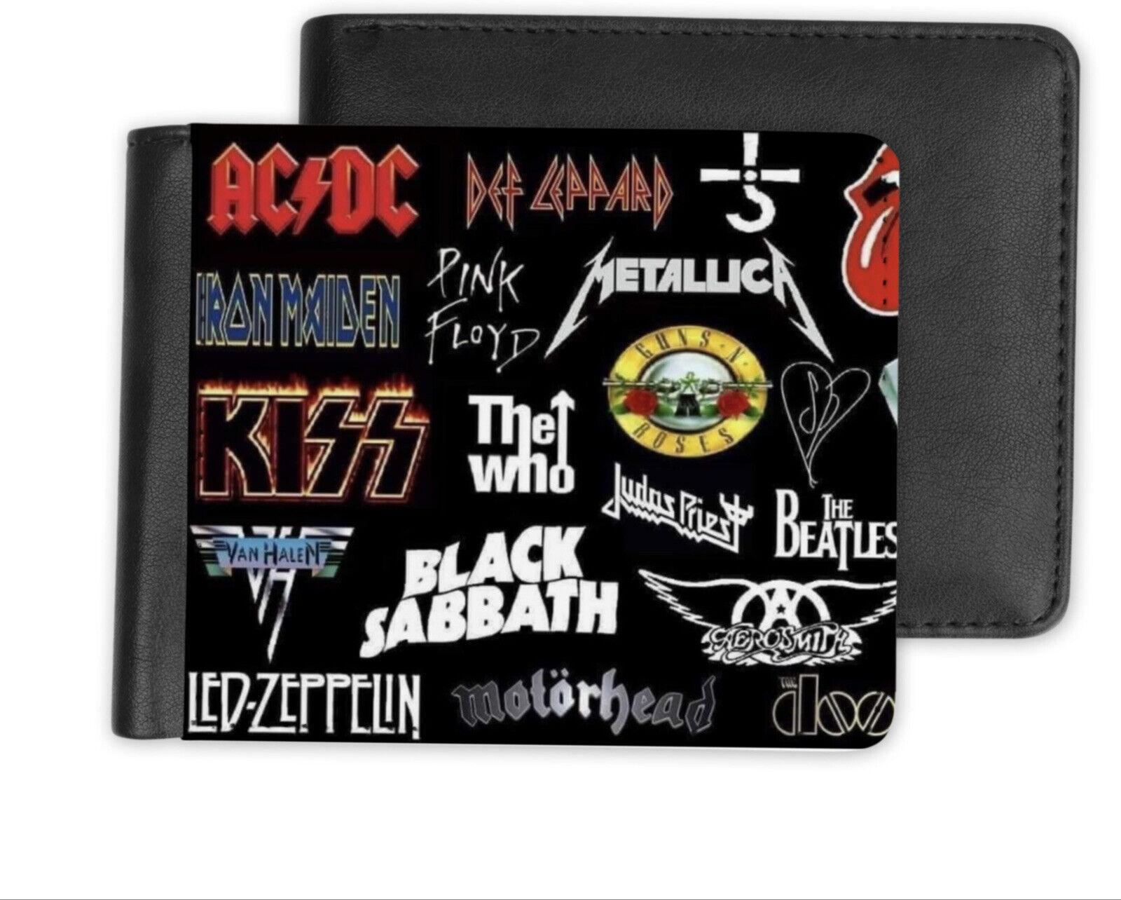 Mens Heavy Metal Rock Gods Vegan Wallet