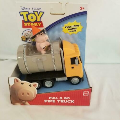 Disney Pixar TOY STORY Pull /& Go Pipe Truck W// Exclusive Hamm Figure 2010 BNIP