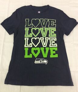 Seattle-Seahawks-Ladies-Love-Shirt-Licensed-NFL-Team-Apparel-Girls-sizes-7-16