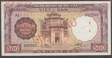 Vietnam South 500 Dong Banknote P-22s ND 1964 Specimen Giay Mau