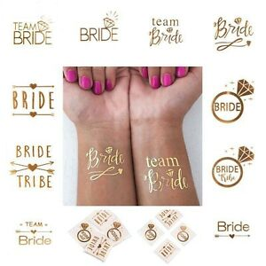 23eac4ab0 Image is loading Temporary-Hen-Party-Tattoos-Rose-Gold-Alternative-to-