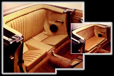 Mercedes SL R107 450SL 350SL  380SL 560SL Front Leather Armrest Cover 1972-89