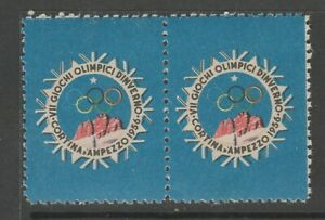 Italy Olympics 1956 MNH gum stamp 4-22-21- Fund Raiser- Cortina Winter Olympics