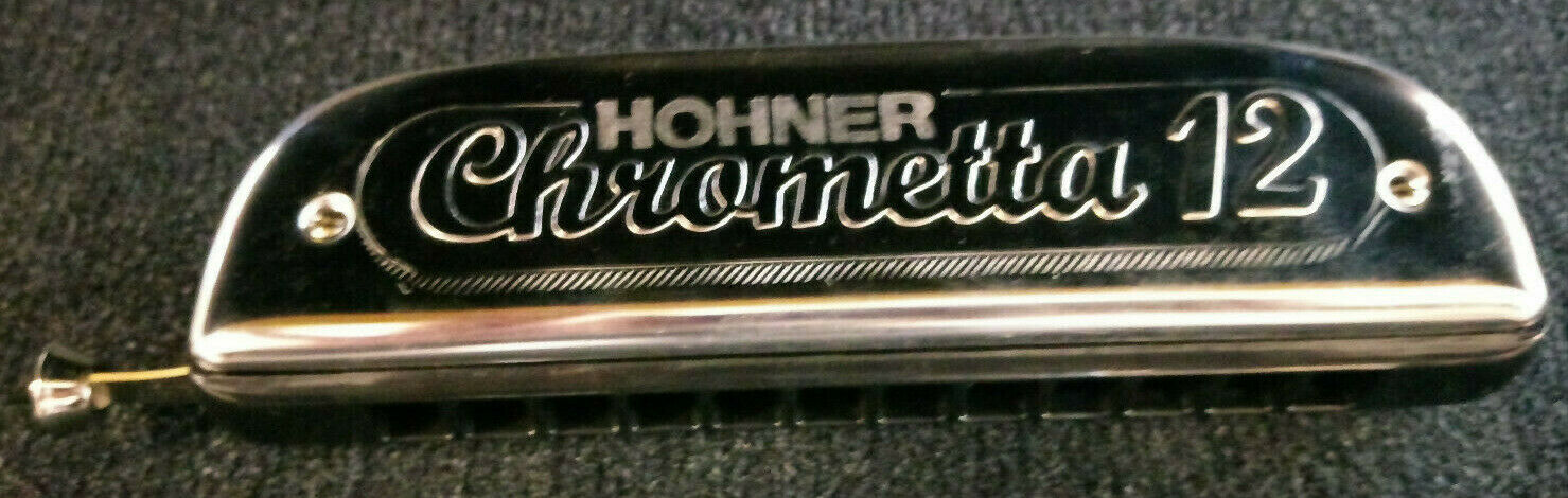 Hohner Mundharmonika Chrometta 12 C - chromatisch - Lagerabverkauf Nr. 763