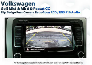 vw golf rear view camera retrofit