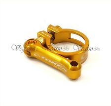 NEW TOKEN ROAD MTB PYRO SEATPOST QR CLAMP Ti BOLT, 31.8MM, GOLD