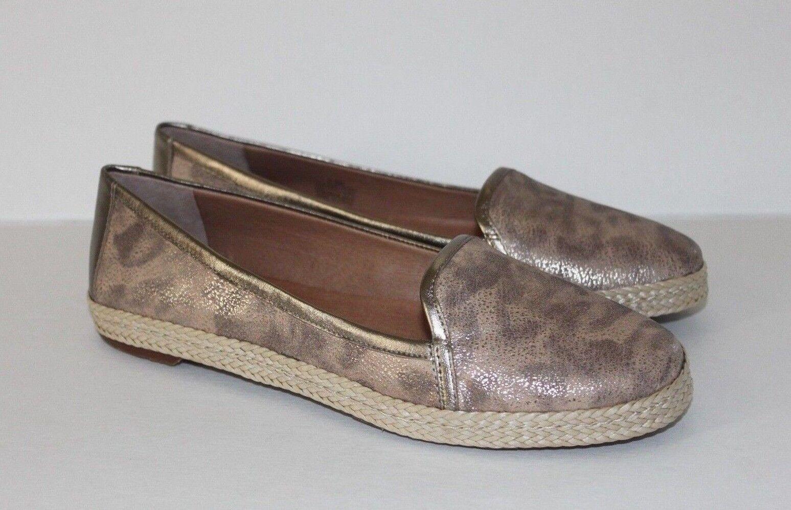 Nurture Women's Rylee gold Timbukto Leather Espadrille Espadrille Espadrille Loafer shoes 6.5   8 M 96f64e