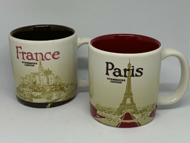 City Franceamp; Starbucks Paris Euc Mugs 3 2 Oz Demitasse ARLj45