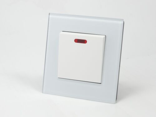 I LumoS AS Luxury White Glass /& White 13A Single//Double Sockets /& Light Switches