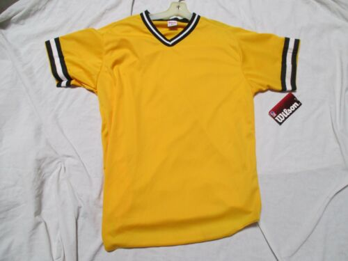 WILSON A4591 MEN/'S V-NECK BRAIDED POLYESTER BASEBALL  JERSEY VAR COL AND SZ