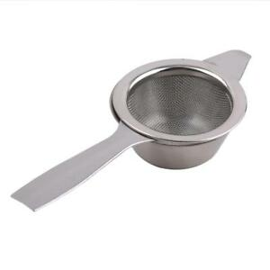 Retro-Tea-Strainer-Sifter-Loose-Leaf-Drip-Bowl-Stainless-Steel-Infuser-Tool-Q