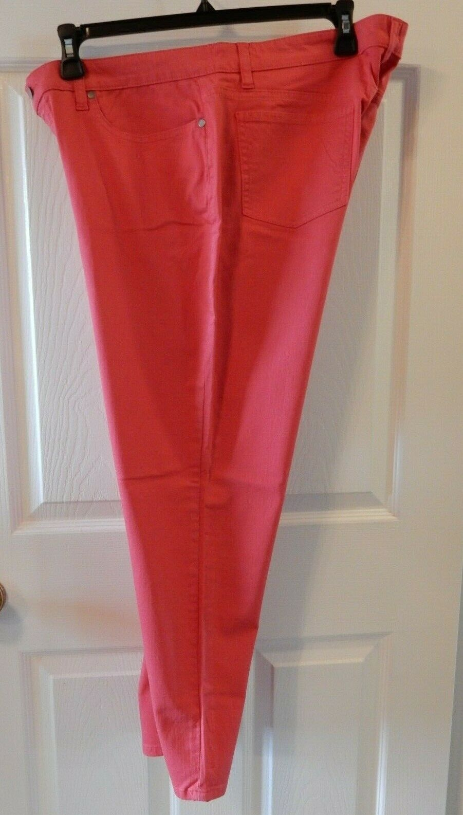 NWT Eileen Fisher SIZE 16 Strawberry Cotton Stretch Twill Skinny Ankle Jean