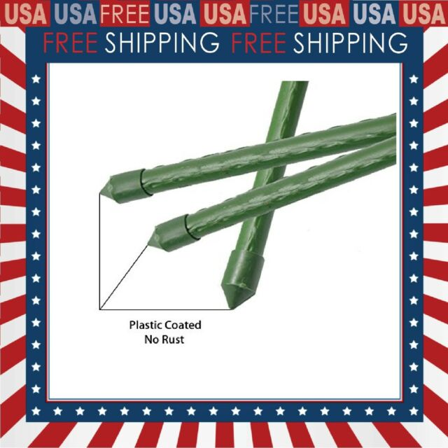 Pack of 25 BTSD-home Garden Stakes 4 Ft Steel Plant Stakes Sturdy Tomato Stakes