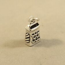 .925 Sterling Silver 3-D CHEESE GRATER CHARM Pendant Chef Kitchen NEW 925 KT111