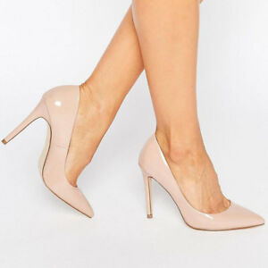 8cb6ac533181 Image is loading Faith-Chloe-Womens-Light-Pink-Patent-High-Stiletto-