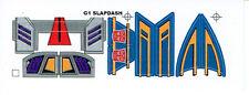 TRANSFORMERS GENERATION 1, G1 AUTOBOT PARTS SLAPDASH REPRO LABELS / STICKERS