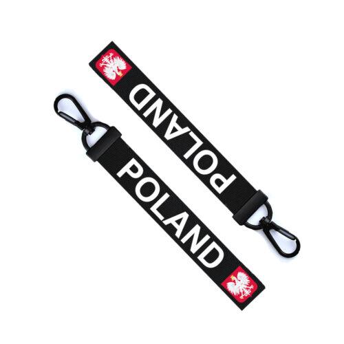 Polish Key Chain Keyring Luggage Tag Zipper Pull Bag Poland Flag Key Ring