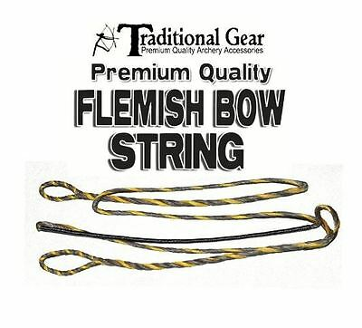 """53/"""" ACTUAL LENGTH 3-PLY Traditional FLEMISH B-50 DACRON Recurve Bow String"""