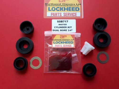 "SSB717 NEW LOCKHEED MASTER CYLINDER KIT DUAL BORE 3//4/"""