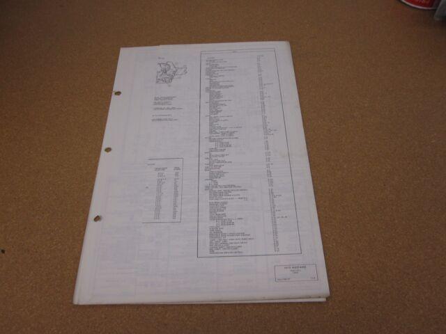 1972 Ford Mustang Wiring Diagram Sheet Schematics Service Manual Original